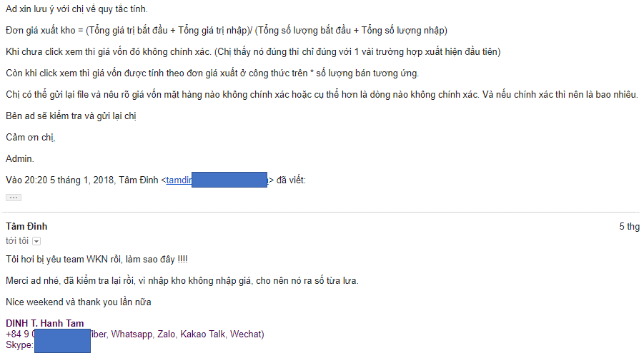 email phan hoi tich cuc ve san pham