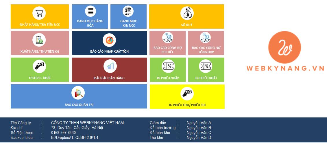 Phiên bản 1.3 – Phần mềm Quản lý Kho – Bán hàng – Lãi lỗ